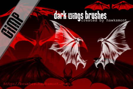 dark wings gimp brushes by hawksmont 1500+ Free GIMP Brushes Packs for Download