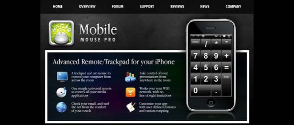 Mobile+Mouse Best Examples of iPhone Apps Websites Designs