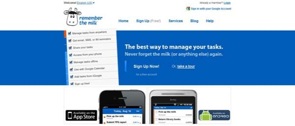 Remember+The+Milk Best Examples of iPhone Apps Websites Designs