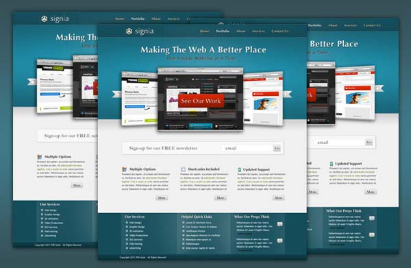 Signia+Free+PSD+Portfolio+Template 80+ Free Editable PSD Website Templates