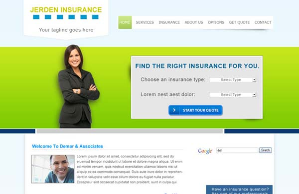 Insurance+Theme+Free+PSD+Website+Template 80+ Free Editable PSD Website Templates