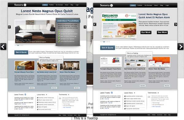 Sonora+Free+PSD+Portfolio+Template 80+ Free Editable PSD Website Templates