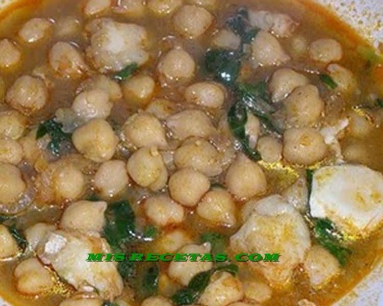 Mis recetas com potaje de cuaresma de garbanzos - Garbanzos espinacas bacalao ...