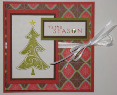 gift card stampin up holiday treasures