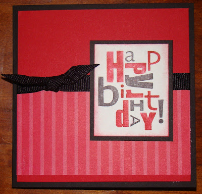 stampin up happy birthday