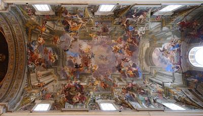 Takfreske, Sant'Ignazio di Loyola, Roma - Andrea Pozzo (1642-1709)
