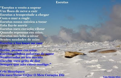 http://oqueomeucoracaodiz.blogspot.com/, O Que O Meu Coração Diz, Cris Henriques, Poemas