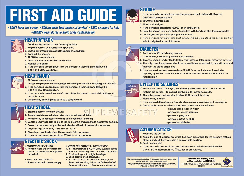 Influential image for printable first aid guide