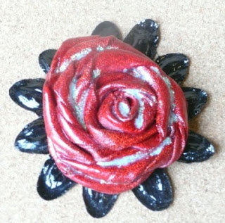 Carmen Wing - Whoopidooings - Ribbon Rose Brooch