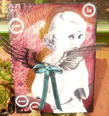 Bette Davis Angel Mixed Media ATC by Carmen Wing (whoopidooings.blogspot.co.uk)