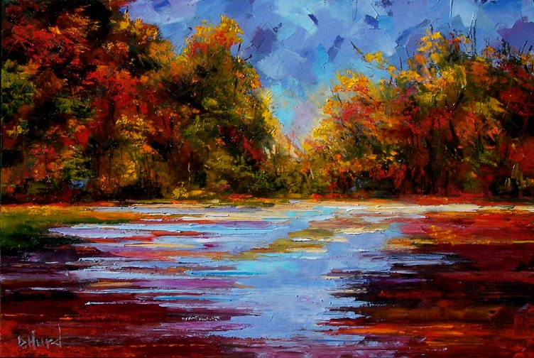 and jazz art fall landscape treet autumn painting art by debra hurd