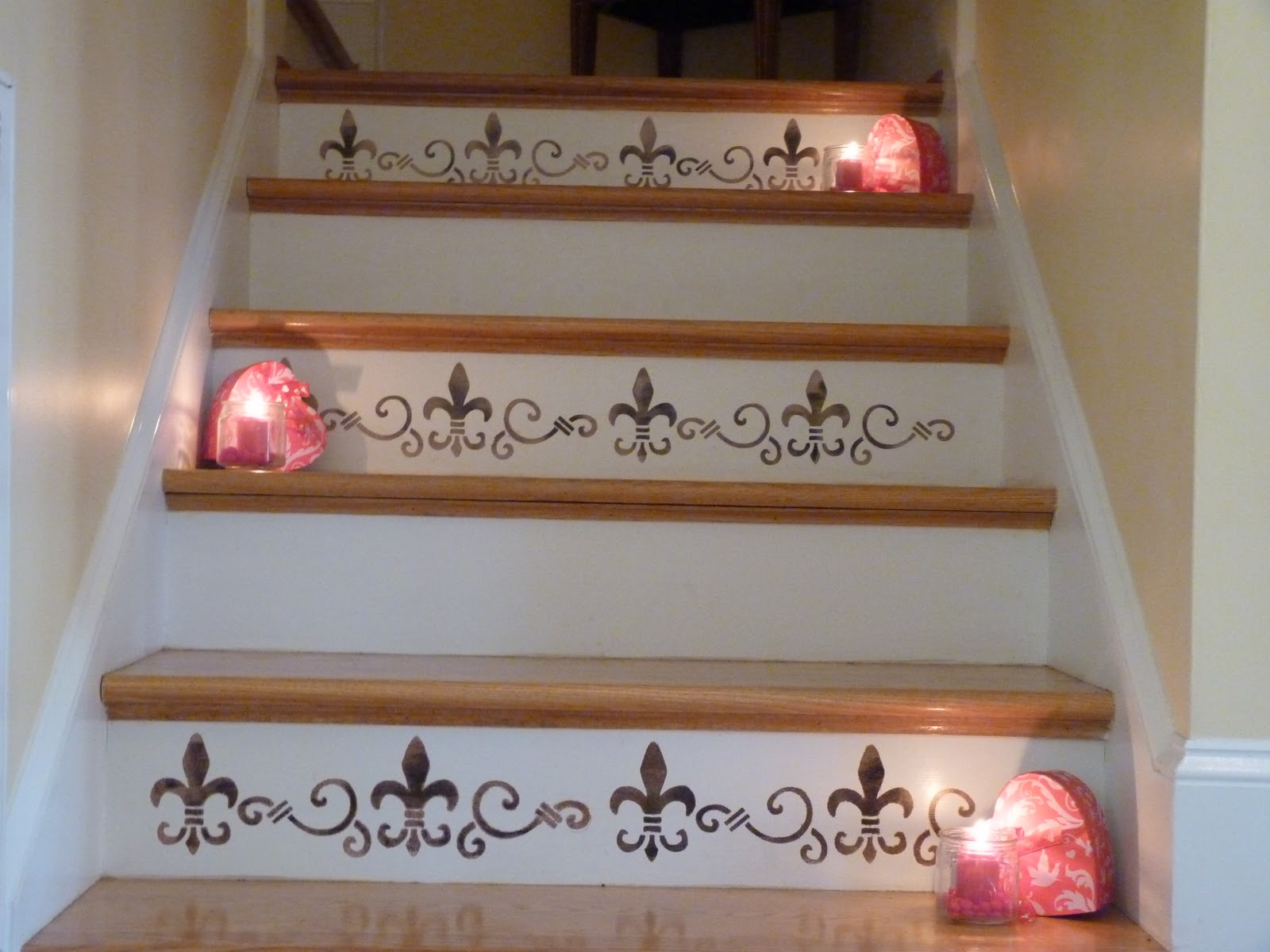 How To Stencil Stair Risers