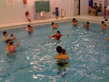 "Baby Swimmers: click for link to Camp Olympia where I am teaching ""Baby and Me"" swimmers"