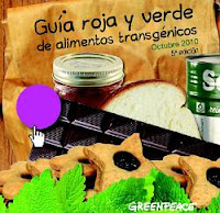 La guía o lista roja de alimentos con productos transgénicos o con OMG