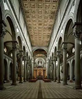 Angiee2b interior de la iglesia de san lorenzo florencia for Interior iglesia san lorenzo brunelleschi