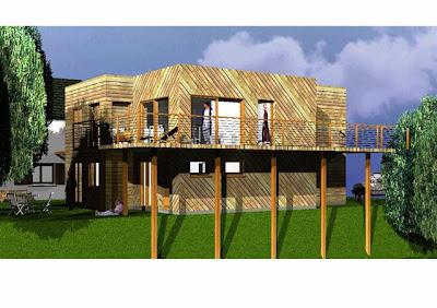 Une maison en bois design et pas cher chiche for Acheter une maison pas cher en ile de france