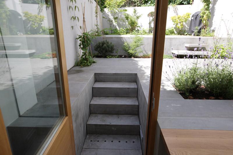 Initiales gg une extension contemporaine pour une for Differents sols maison