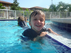 Cole in the pool