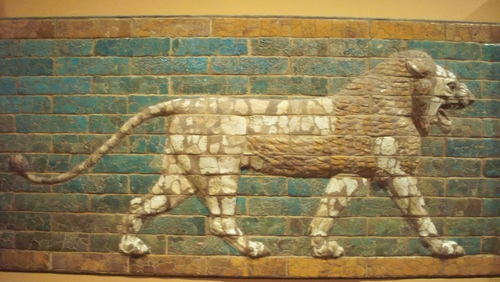 Striding Lion of Bablyon -- at The University of Chicago's Oriental Institute
