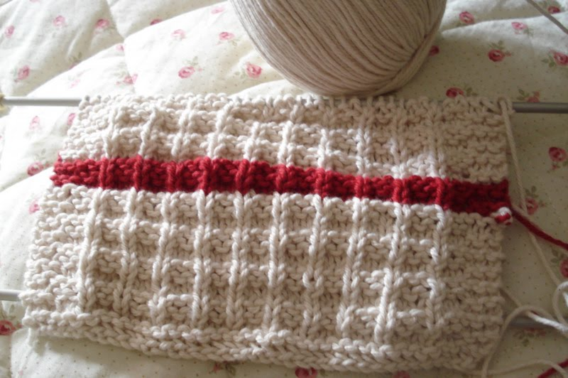 Waffle Knitting Pattern Dishcloth : Its dishcloths again - Down to Earth