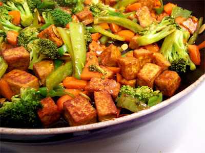 tofu and vegetable stirfry recipe posted by toronto personal trainer