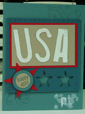 Stampin UP Airbornewife Patriotic USA Well Worn Alphabet Star Punches Independence DAy