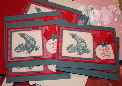 cards for troops patriotic american eagle airbornewife stampin up