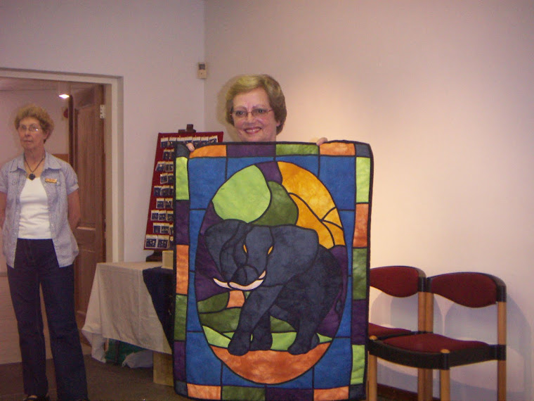 Stained Glass Elephant Quilt