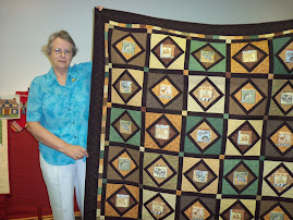 Hand pieced Window quilt
