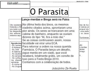 A USP, O Parasita e a Homofobia. Caso de Polícia?