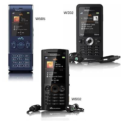 Sony Ericsson W595, W302, W902