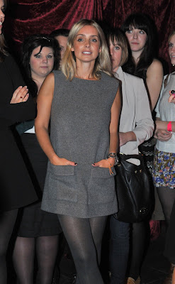 Louise Redknapp In Grey Nylons