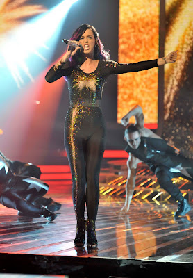 Katy Perry In A Tight Catsuit