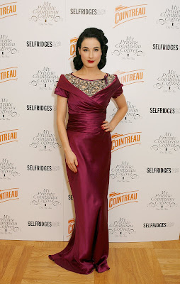 Dita Von Teese In A Slinky Dress