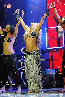 Shakira at the MTV EMAs