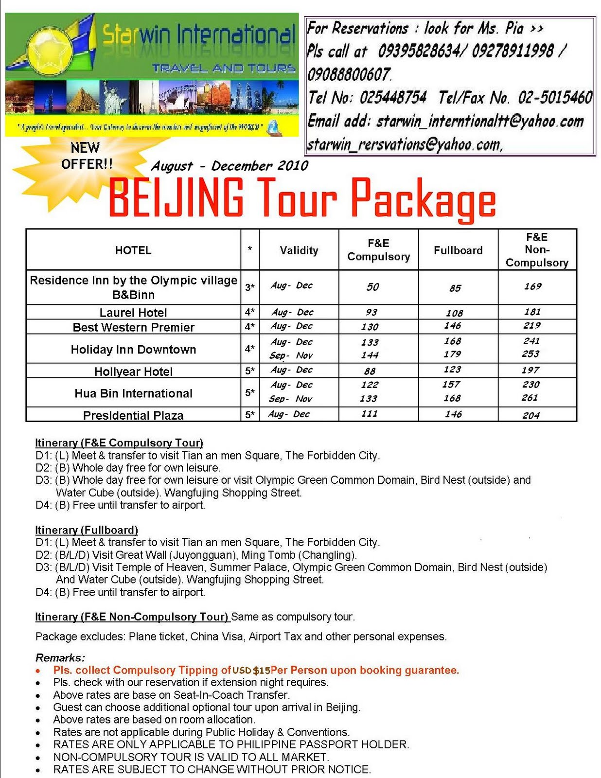 New York Tour Package From Philippines
