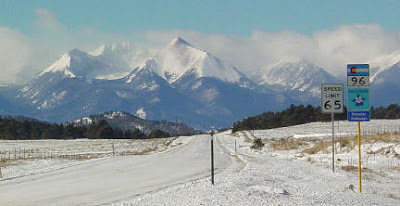 Horn Peak in the Sangre de Cristo Range 11 Feb 09. Photo by Chas S. Clifton