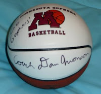 Minnesota coach Dan Monson autographed basketball