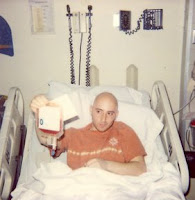 Benjamin Rubenstein holding umbilical cord transplant stem cells