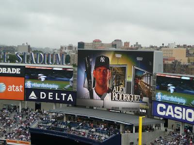Brand new Yankee Stadium giant scoreboard