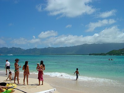 Resting on Waikiki beach