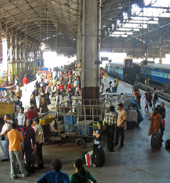 view of Mumbai train platform