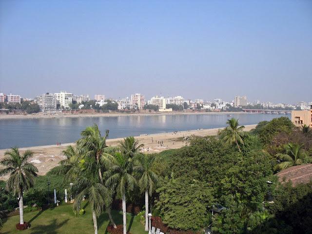 Ahmedabad city and the river Sabarmati
