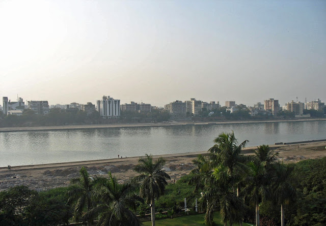 Ahmedabad city and the river Sabarmati