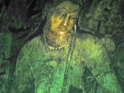 Close-up Buddha painting Ajanta wall