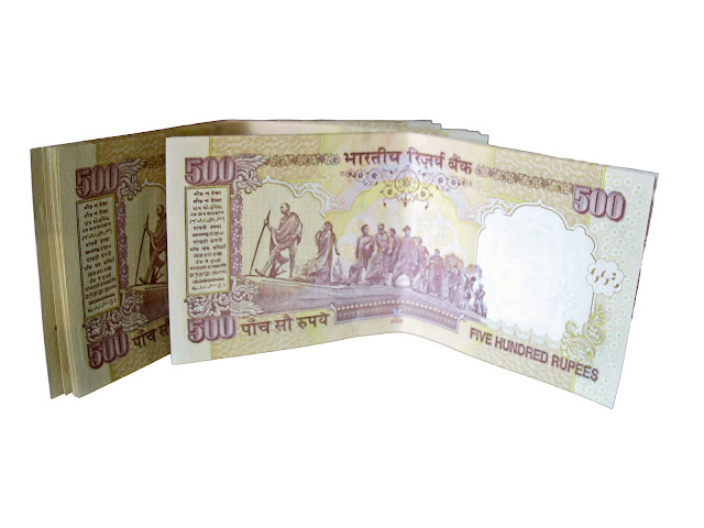rupee notes cutout
