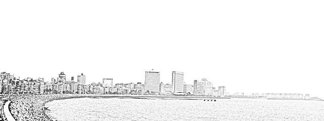 south mumbai skyline drawing