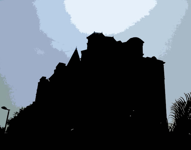silhouette of castle