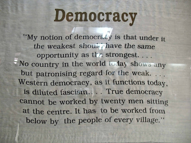 gandhi quote on democracy