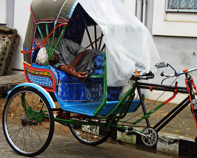 cycle rickshaws in Pondycherry India